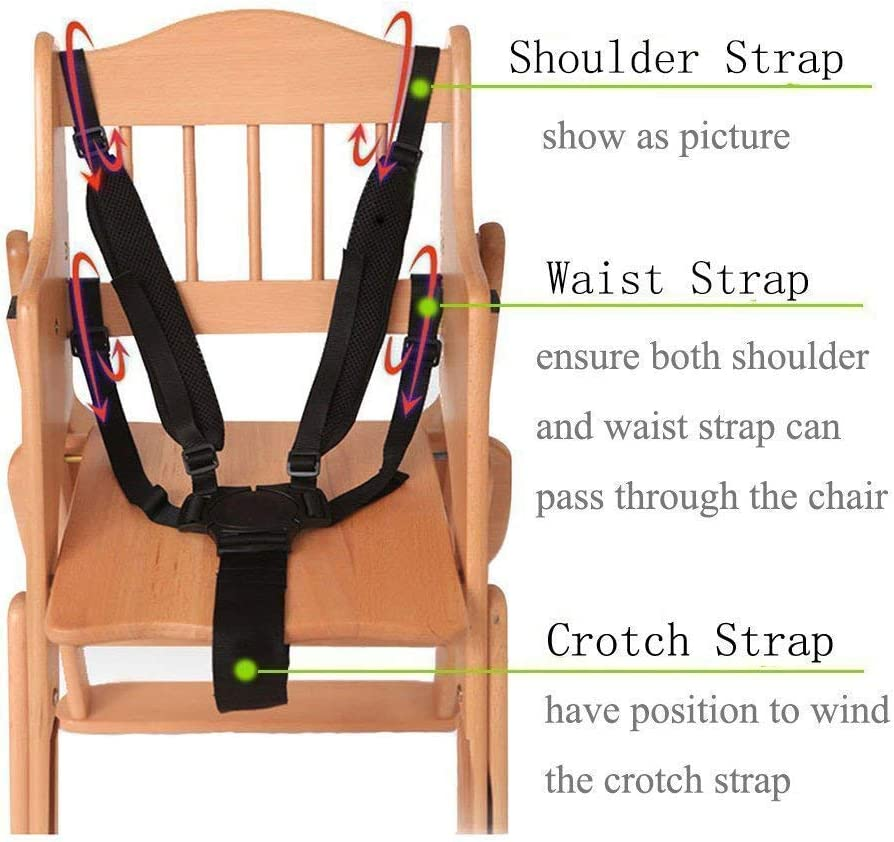 Abnaok Adjustable Harness Baby Safety Strap Belt for Stroller Pushchair Pram Buggy High Chair Baby Harness Safety Harness Strap Belt Abnaok Universal High Chair Straps