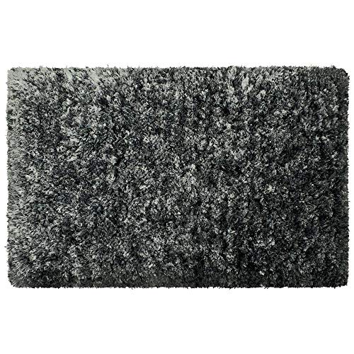 OCM Black Plush Supersoft 5x7 Area Rug, Perfect for College Residence Hall Dorm Rooms, bedrooms or Elsewhere in The Home, Supersoft Microfiber
