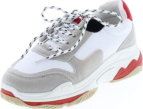 eeb35e01db8 YOKI Womens Fashion Chunky Heavy Triple Sole Tubuler Trendy Dad Sneaker  Trainers