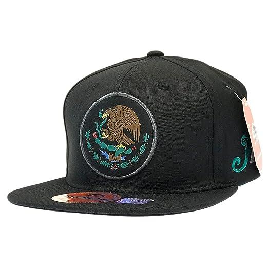 76b992a630e Amazon.com  Mexico Snapback Hat Federal Logo Mexican Flag Patch Flat ...