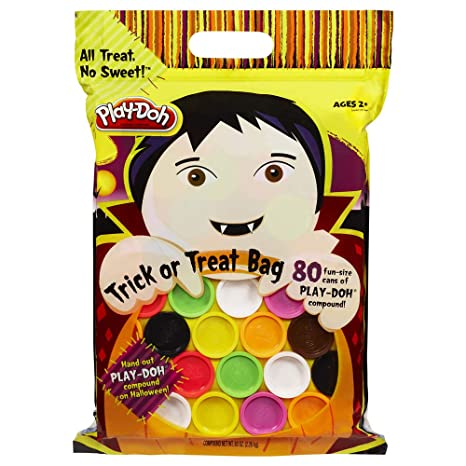 play doh halloween trick or treat bag 80 fun size cans