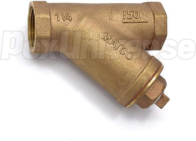 1-1//4 Threaded Y-Strainer Lead-Free Brass