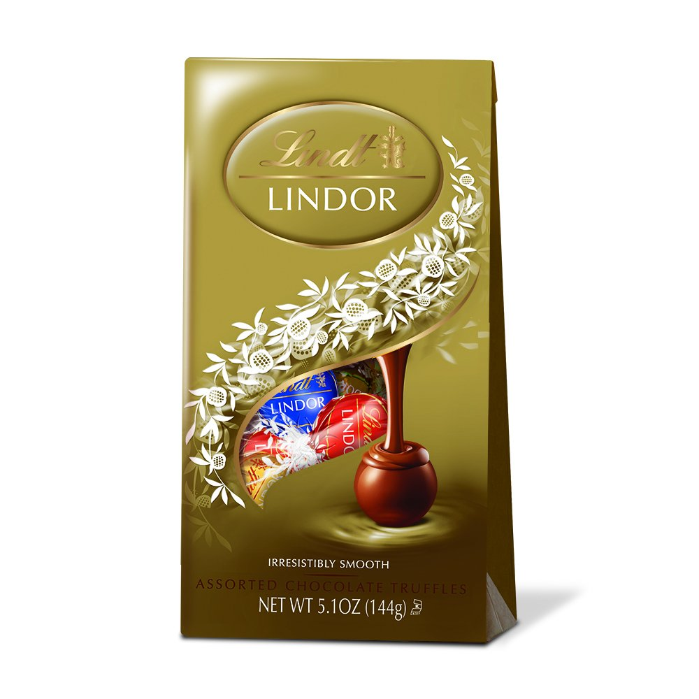 Lindt LINDOR Assorted Chocolate Truffles ,5.1 Ounce (Pack of 4)