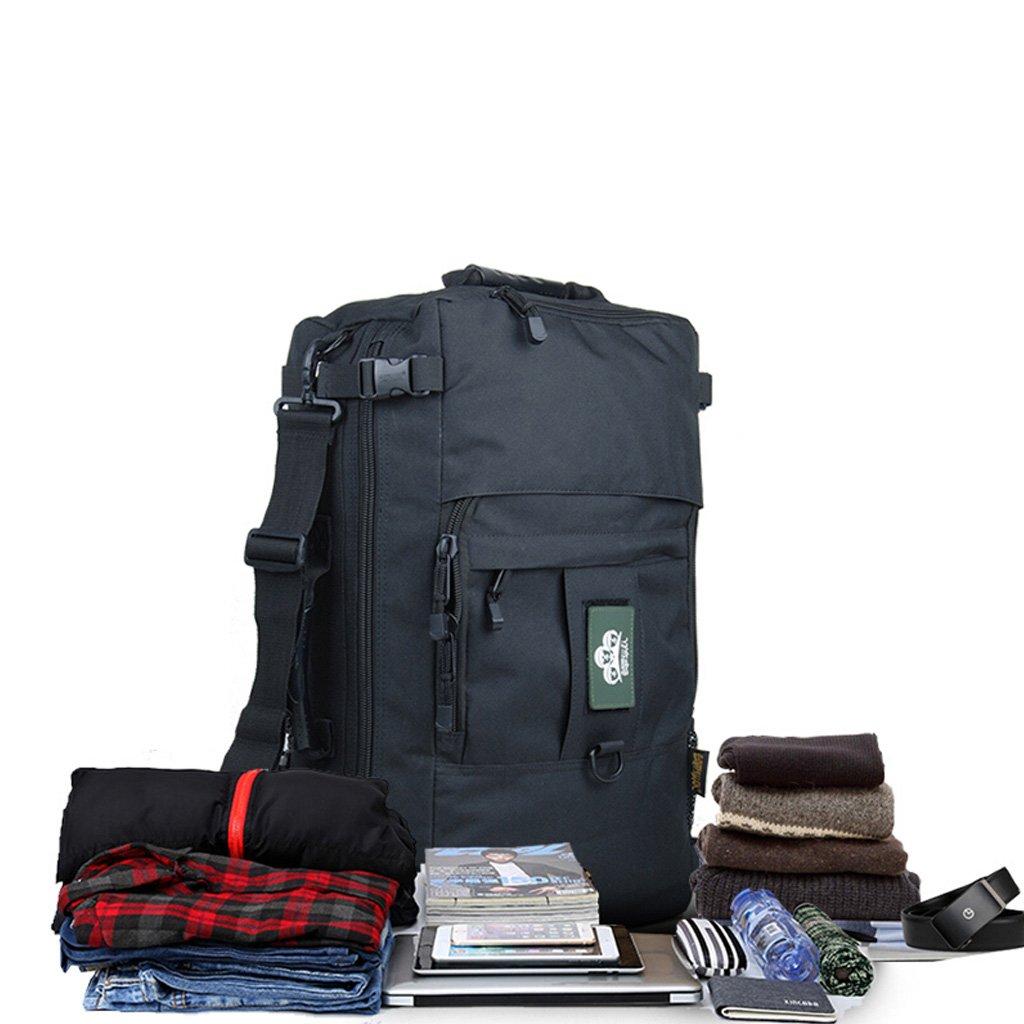 XUAN YUAN 旅行バックパックメンズショルダーアウトドア登山バッグ防水大容量ビジネス旅行荷物バッグ多機能ラップトップバックパック50L / 60L 20/22インチ2色オプション @ 50L/20 1# B07GFLKS58
