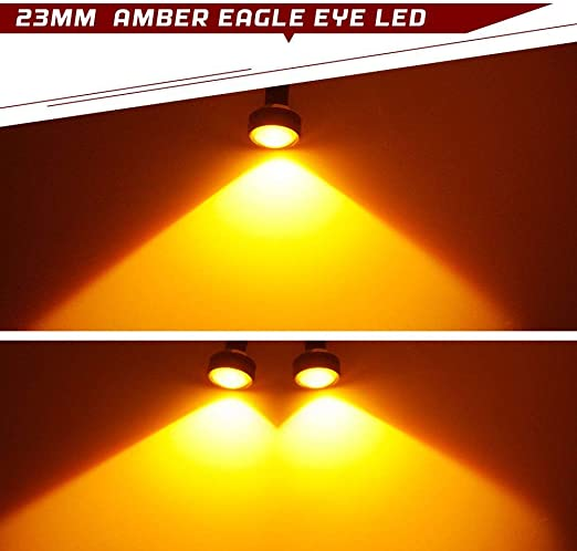 Iswell Car Led Eagle Eye Luz antiniebla DRL Se/ñal de estacionamiento reversa Diurna Luces diurnas Impermeables