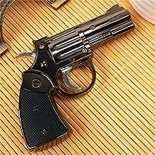 Revolver V2 Gun Metal Refillable Butane Gas Lighter Cigarette Jet Torch