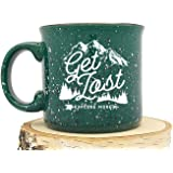Campfire Mug - Get Lost Explore - Speckled Color Mug - Screen Printed Coffee Mug