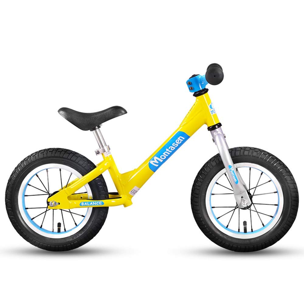 Steaean Equilibrio de la bicicleta del carro deslizante del automóvil rueda inflable sin pedal de bicicleta 2-3-6 años de edad scooter de dos ruedas pequeño caballero pequeño ciervo amarillo distribución de fábric