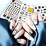 Christmas Nail Decals Nail Art Decals elf-adhesive Tip Nail Art Stickers Decals Pack of 4 (2)