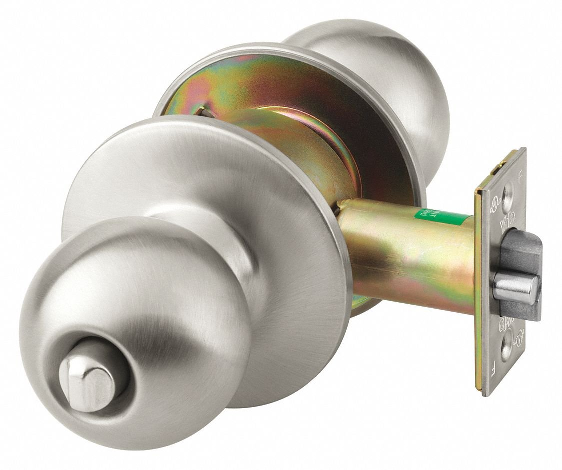 Heavy Duty Privacy 5400CK-Series Knob Lockset, Dull Stainless Finish