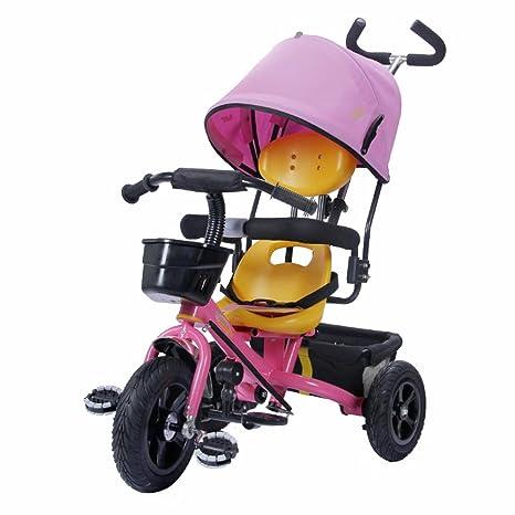 Triciclos Trike Kids 3 Wheels niños Bicicleta 1-4 años Carrito para bebés Trolley Bicicleta