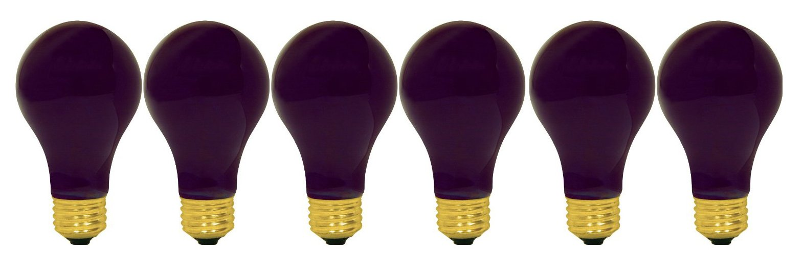 GE Lighting 25905 60-watt A19 Light Bulb with Medium Base, Black, 6-Pack