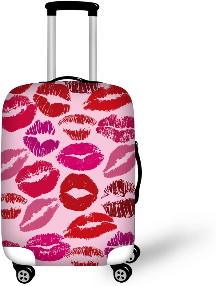 """18-22 Cover Travel Luggage Covers,CAIWEI Pink Flowers Suitcase Protective Cover Fits 18/""""-30/"""" /… S"""