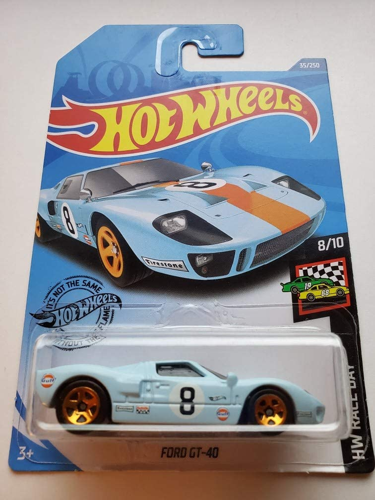 Amazon Com Hot Wheels 2020 Hw Race Day Ford Gt 40 35 250 Blue Toys Games