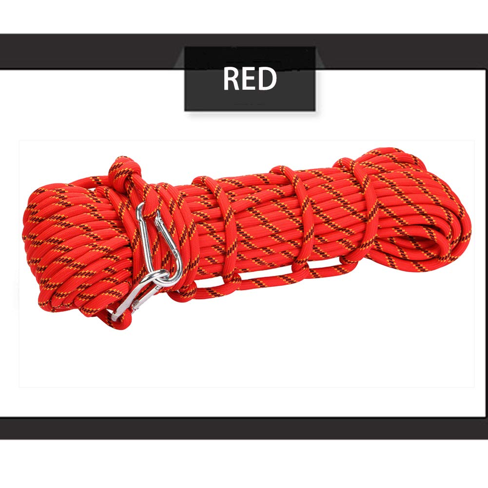 Rouge GPAN Corde De SéCurité en Nylon pour Corde d'escalade avec Membre à Vis DifféRentes Longueurs DiamèTre 10 Mm Poids De Transport RandonnéE PéDestre,rouge,30Meters 30Meters
