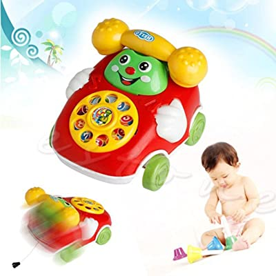 Langle Baby Toys Cartoon Car Phone Kids Educational Developmenta Push & Pull Toys: Home & Kitchen