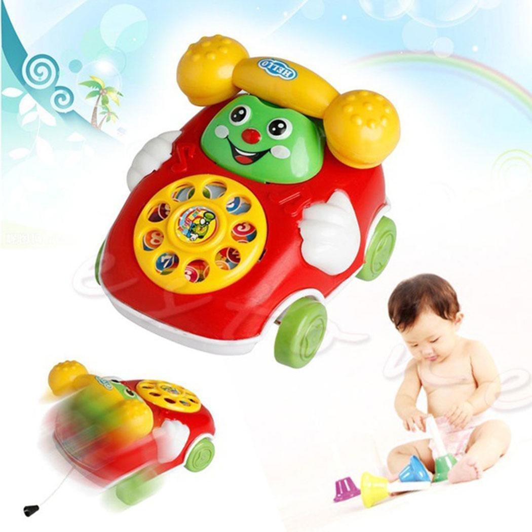 Baby Spielzeug Karikatur Telefon Nachziehspielzeug Kind Auto Entwicklung Spielzeug Geschenk Kloius