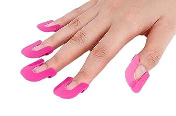 TININNA 26pcs Impermeable dedo de manicura para uñas polaco Shield Protector Plantillas Herramientas de moldes: Amazon.es: Hogar