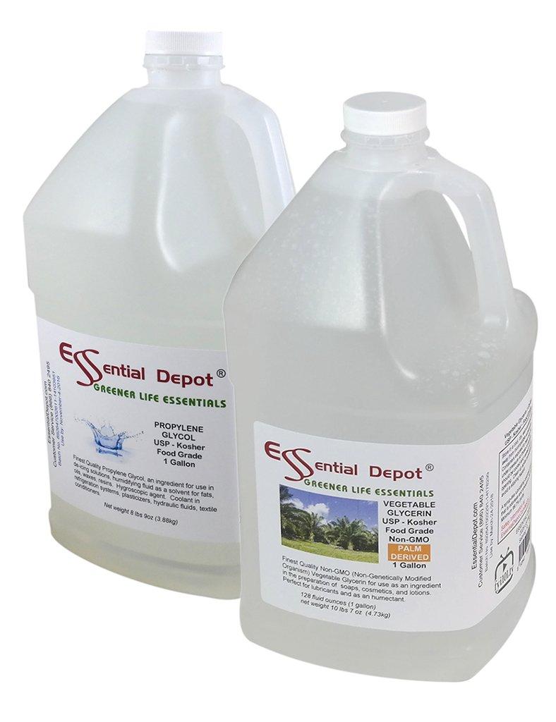 Vegetable Glycerin 1 Gallon + Propylene Glycol 1 Gallon - USP - Kosher