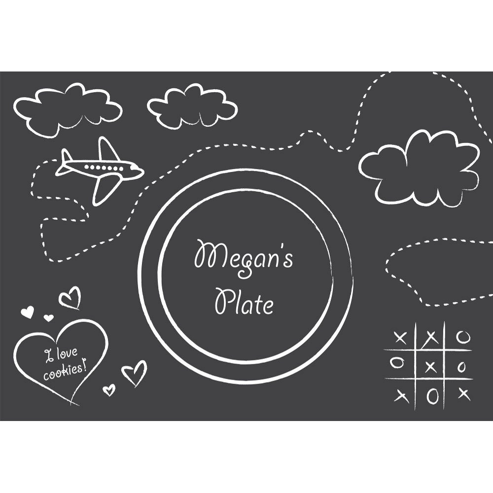 Creative Converting 863406 Chalkboard Paper Placemats, Any, Multicolor