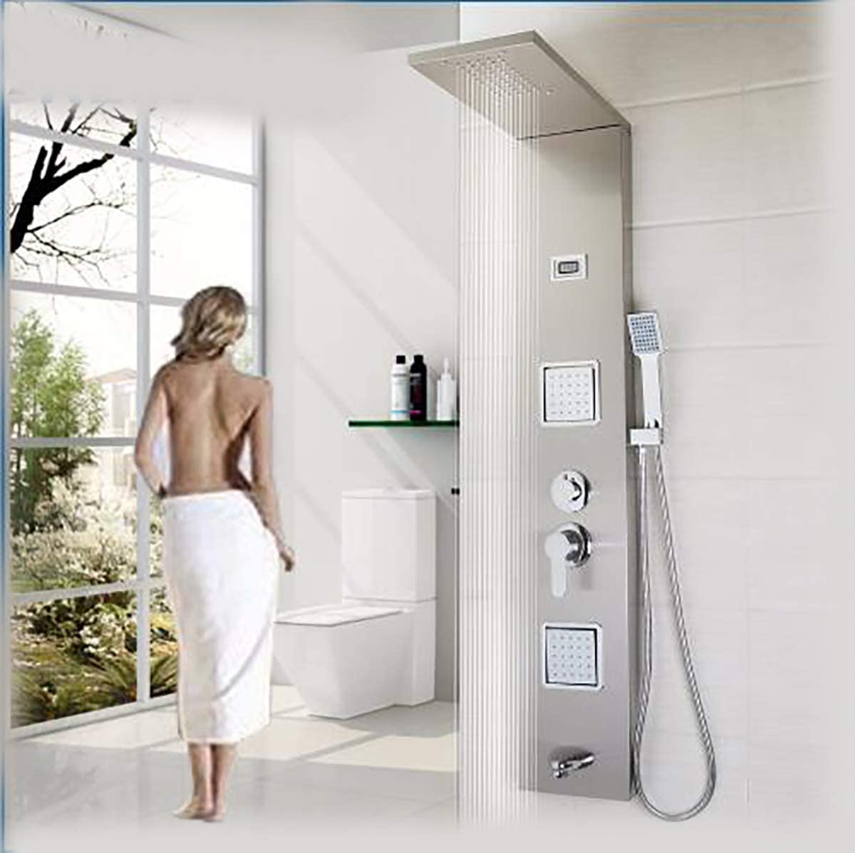 Shower system Montado en la Pared Panel de Ducha Grifo Lluvia ...
