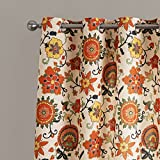 """25 Sizes Available (Set of 1 panel) (100""""W x 63""""L) Tab Top Contemporary Print Oil Painting Style Lovely Floral Blackout Lining Window Treatment Draperies & Curtains Panels"""