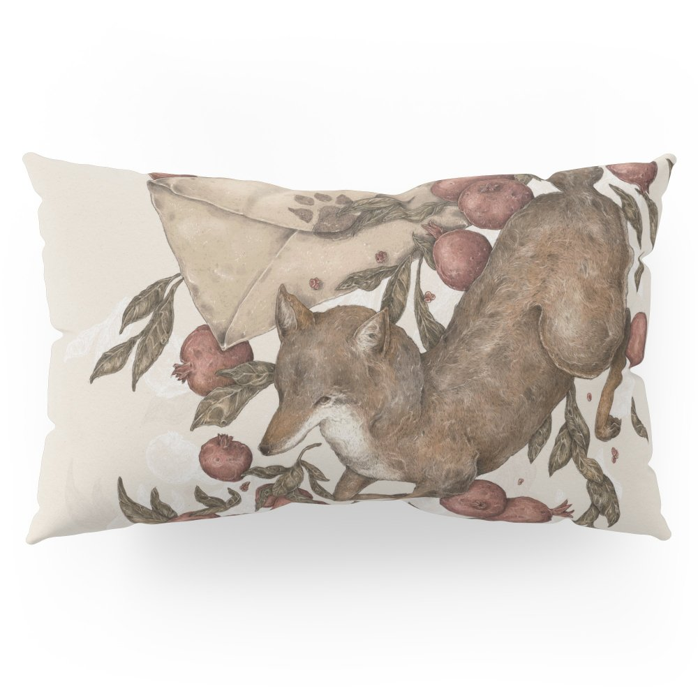 Society6 Coyote Love Letters Pillow Sham King (20'' x 36'') Set of 2
