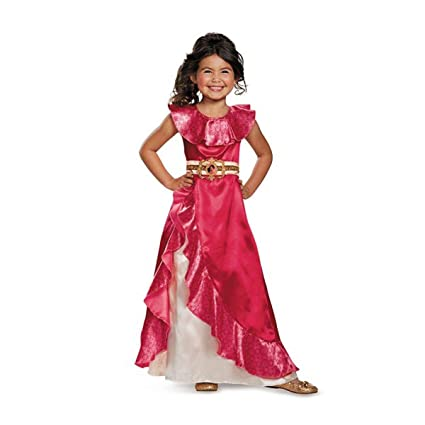 Elena Adventure Dress Classic Elena of Avalor Disney Costume, Medium/7-8