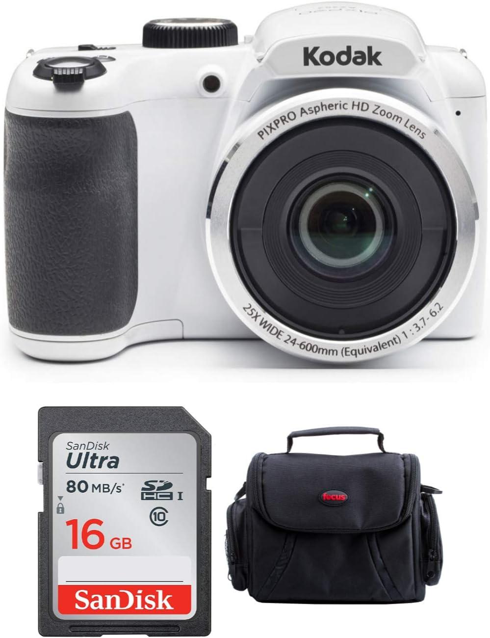 2 Items Kodak PIXPRO WPZ2 Rugged Waterproof 16MP Digital Camera with 4X Optical Zoom and Kodak 32GB microSDHC Card with Adapter Bundle