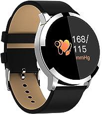 Etbotu WQ8 Smart Heart Rate Monitor de presión arterial visualización de color IP68 Deep resistente al agua reloj para adultos niños los ancianos empresarios, Gris plateado