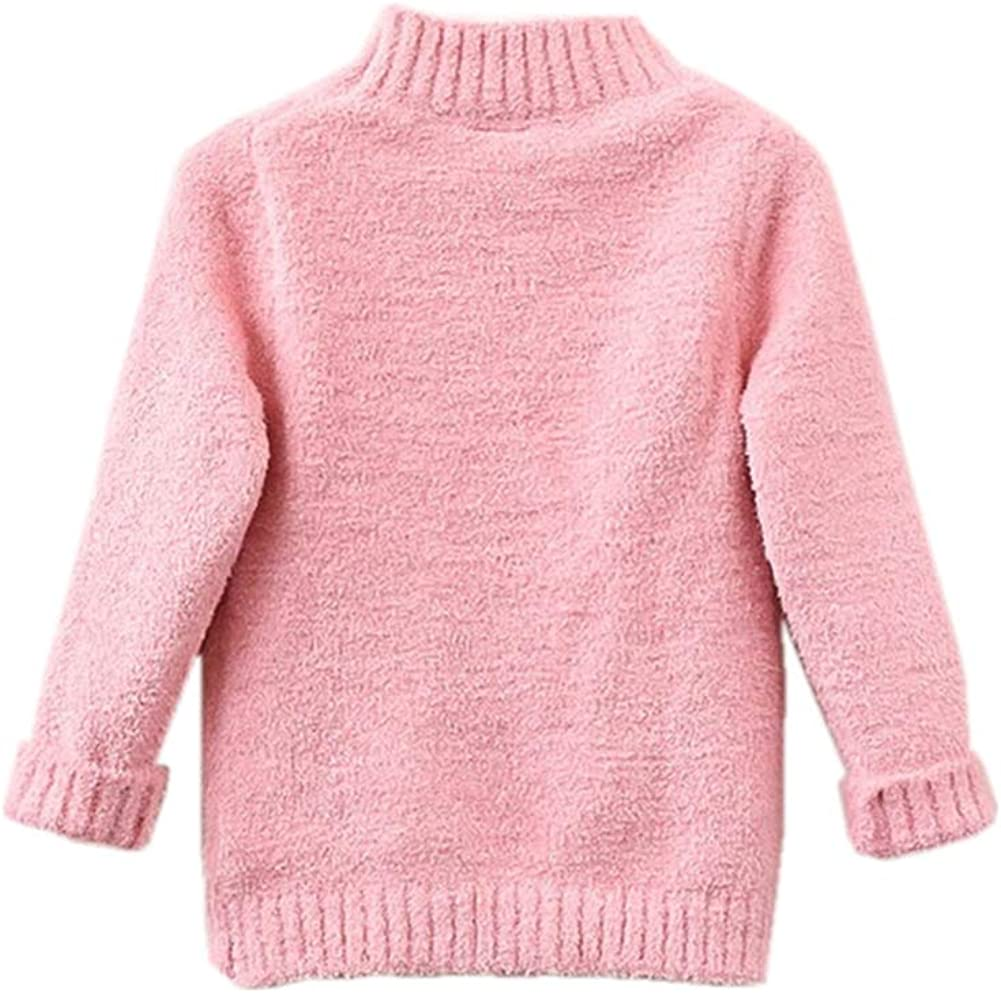 Toddler Baby Girls Pullover Sweater Kid Lovely Knit Sweatshirt Pink 120