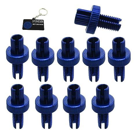 STONEDER - Perno ajustador de Cable de Freno de Embrague Azul DE 10 mm para ATV