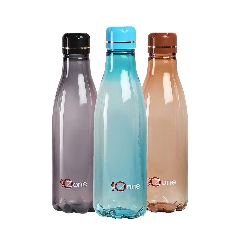 Ozone Plastic Water Bottle, 1 Litre, Set of 3