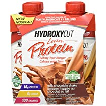 Hydroxycut Lean Protein Shakes Chocolate, Ready to Drink-4 Pack, 4 Count