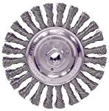 10-Pk JAZ Cam 6'' Cap Pass Weld Cleaning Wheel 38 Knots .020'' Steel 5/8''-11 Ah