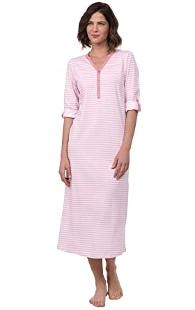 f016545c PajamaGram Nightgowns for Women Stripe - Women's Nightgowns, Pink, S, ...
