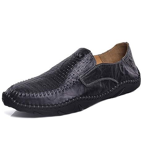 2019 Zapatos hombre Mocasines Mocasines Mans Negro Marrón ...