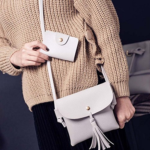 Four Bag Tote Shoulder Bag Wallt Set Women Crossbody Pieces Gray Handbag Voberry Fashion Four g6xf40