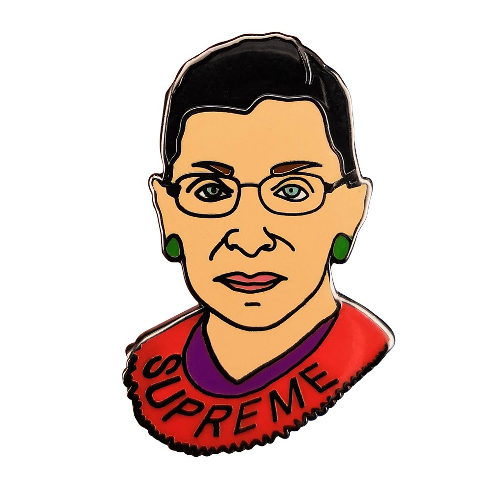 Supreme Ruth Bader Ginsburg Women Pin Badge Notorious RBG Feminists Gudeke B07BYVYQPK_US