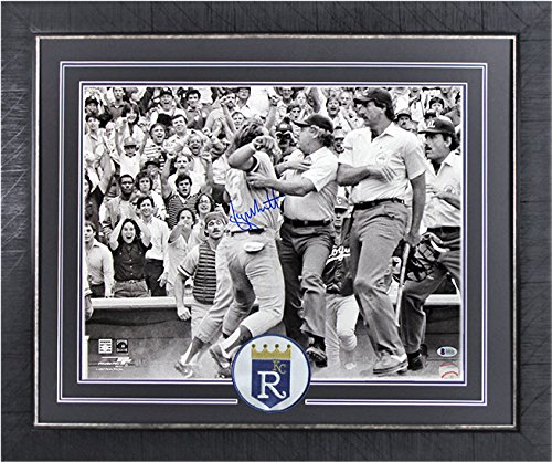 Royals George Brett Authentic Signed 16X20 Photo & Framed Pine Tar BAS - George Brett Framed Photo
