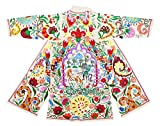 one-of-a kind Uzbek Bukhara outwear costume kaftan caftan FAIRY TALE robe jacket coat unisex silk embroidered B1452