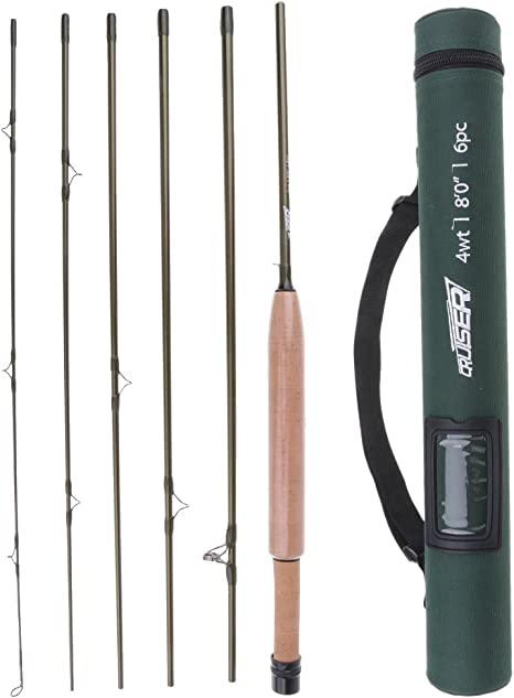 D DOLITY Travel Fly Fishing Rod 7 8ft 234WT 6Piece