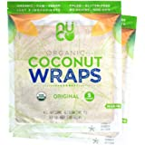 NUCO DUO Certified Organic, SHELF STABLE, All Natural, Paleo, Gluten Free, Vegan Non-GMO, Kosher Raw Veggie NUCO Coconut Wraps. NO Salt Added Low Carb and Yeast Free 10 Count Various Quantities