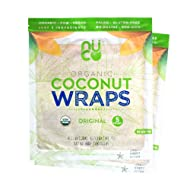 NUCO DUO Certified Organic, All Natural, Paleo, Gluten Free, Vegan Non-GMO, Kosher Raw Veggie NUCO Coconut Wraps. NO Salt Added Low Carb and Yeast Free 10 Count Various Quantities