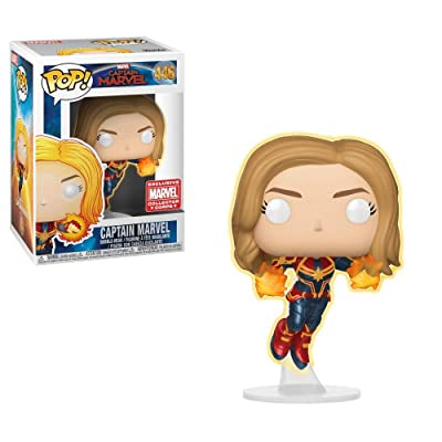 POP! Funko Captain Marvel - Glow in The Dark - Collector Corps Exclusive: Toys & Games
