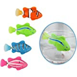 Set 4 pieces Cat Toy Electric Bionic Robot Fish with Smart Senor Turinng Diving Floating for Aquarium Pool