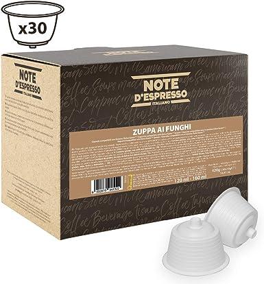 Note DEspresso - Cápsulas de caldo de champiñones, 14 g (caja de ...