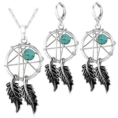 MESE London Dream Catcher Necklace Silver Dreamcatcher Pendant - Elegant Gift Box zulQ7OxXd