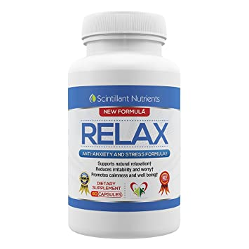 Amazon Com Relax By Scintillant Nutrients 60 Capsules Natural