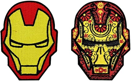 style#2 Black Widow Hulk Ironman Marvel Comics Fabric Iron On Appliqués